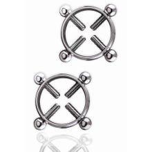 Power Escort - Kinky Pleasure - Double Trouble Nipple Clamps silver