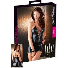 Cottelli Mini-Kleid Schnürung schwarz