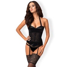 Obsessive Ailay Corset with Thong black