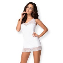 Obsessive Miamor Chemise and Thong weiss