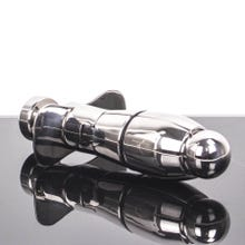 16 x 4,2 - 7 cm Metallplug - Stainless Steel Asslock - Deluxe Locking Plug 3.0
