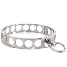 HardcoreDeLuxe Halsfessel - Steel Collar Open Circles M 11.5 cm silver