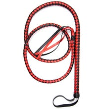 HardcoreDeLuxe Long Whip black/red