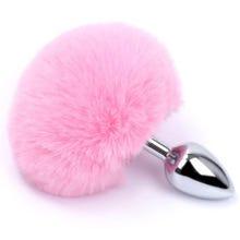 13 x 9 cm Bunny Tail Plug pink