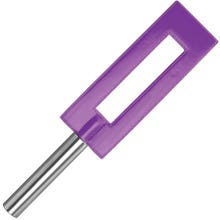 OUCH Lederpaddel GAP mit Metallgriff 35 cm purple - SUPERSALE