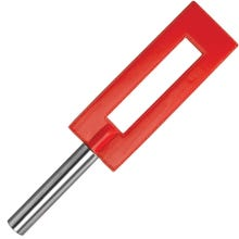 OUCH Lederpaddel GAP mit Metallgriff 35 cm red - SUPERSALE