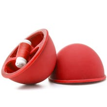 Vibrating Suction Cup - Red - Supersale