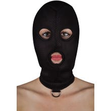 OUCH Extreme Mesh Mask Balaclave with D-Ring black M-XL