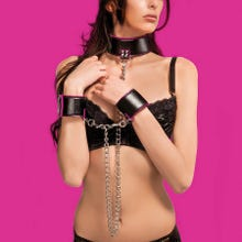 OUCH Reversible Collar and Wrist Cuffs pink SUPERSALE