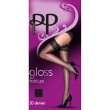 Pretty Polly Everyday Plus 10D Gloss Hold Ups black S-L