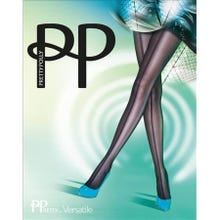 Pretty Polly Panelled Mesh Frontseam Tights black S-L | SUPERSALE