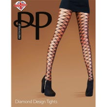 Pretty Polly Premium Fashion Diamond Design Tights black S-L | SUPERSALE