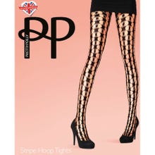 Pretty Polly Premium Fashion Stripe Hoop Net Tights black S-L | SUPERSALE