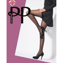 Pretty Polly Premium Fashion Spiral Dot Tights black S-L | SUPERSALE