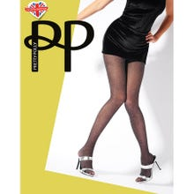 Pretty Polly Premium Fashion Lurex Mesh Tights black/silver S-L | SUPERSALE