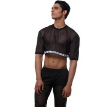 Ruben Galarreta Mesh Crop Top black