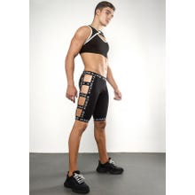 Ruben Galarreta Excess Black Short Strapped Pants black