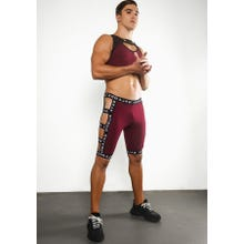 Ruben Galarreta Excess Brandy Short Strapped Pants burgundy
