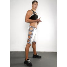 Ruben Galarreta Excess White Short Strapped Pants white