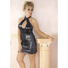 Glänzendes Kleid silber