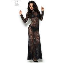 Chilirose Spitzen-Kleid schwarz