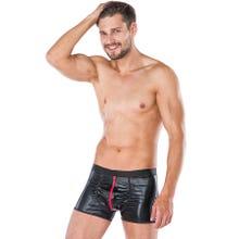 Herren - Boxershorts - Zip schwarz/rot | SUPERSALE