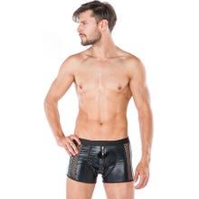Herren - Boxershorts - Zip schwarz/schwarz | SUPERSALE