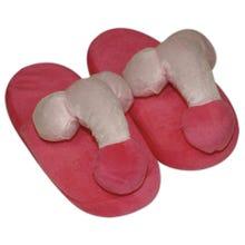 Penis Plüsch-Hausschuhe pink