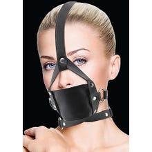 Mundknebel - Leather Mouth Gag - black