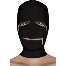 Maske - Extreme Zipper Mask with Eye and Mouth Zipper black
