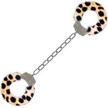 Furry Ankle Cuffs Cheeta - Fußschellen - SUPERSALE