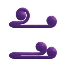 24 cm x 3,5 cm Snail Vibe Duo Vibrator Purple