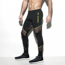ES Collection SP191 Dystopia Leggings black/lemon green