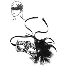 Steamy Shades - Mardi Gras Mask with Feathers | SUPERSALE