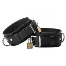 Strict Leather - Deluxe Locking Cuffs - Wrist Cuffs - Handfesseln - black
