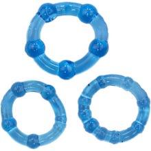 RudeRider Mini Cock Ring Set 3Stk ice blue