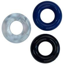 RudeRider Mini Cock Ring Set 3Stk multicolor