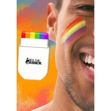 RudeRider Pride Gear Rainsbow Face Paint MakeUp Set