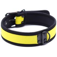 RudeRider Neoprene Puppy Collar yellow