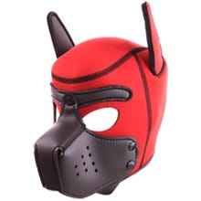RudeRider Neoprene Puppy Hood red/black