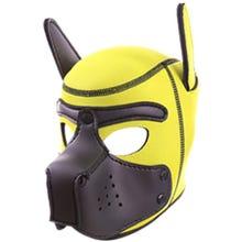 RudeRider Neoprene Puppy Hood yellow/black