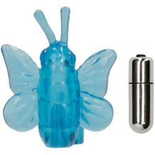 7,3 x 5,5 cm Eromeo - Butterfly Vibe Finger Ring blue SUPERSALE