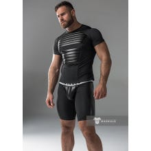 MASKULO - Fetish T-Shirt - Front Pads - Black | SUPERSALE