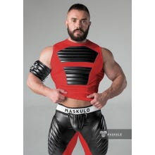 MASKULO - Fetish Tanktop - Front Pads - Red/Black | SUPERSALE
