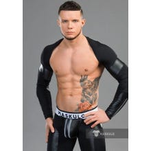 MASKULO - Youngero Fetish Top - Lange Ärmel - Black | SUPERSALE