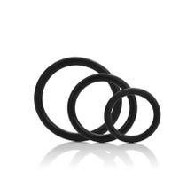 Cockring-Set TRI-RINGS black