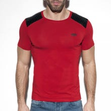 ES Collection TS230 Dystopia Padded T-Shirt red|SUPERSALE