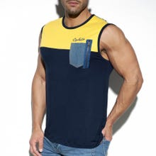 ES Collection TS248 Pocket Jeans Tank Top navy|SUPERSALE