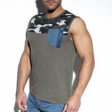 ES Collection TS248 Pocket Jeans Tank Top kaki SUPERSALE