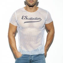 ES Collection TS254 Open Mesh T-Shirt white|SUPERSALE